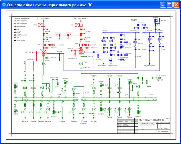 Однолинейная схема - Схемы.